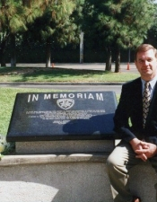 """Memorial Dedication"" to Bruce on the first anniversary of his death LA West Valley Office of the CHP"