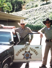 "Officers Mark Pope and Bruce during a ""lunch break"" stop at my house."